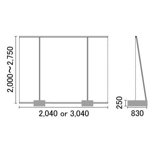 アルファ-エコ寸法図