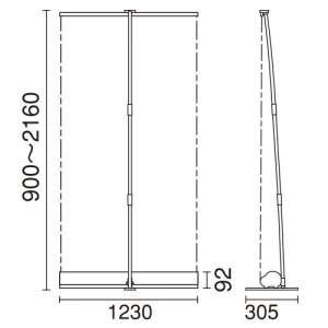 ロールアップバナー i-LooK120(アイルックW1200)_C