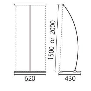 I-BannerⅡ620(アイバナーW590)シルバー_E