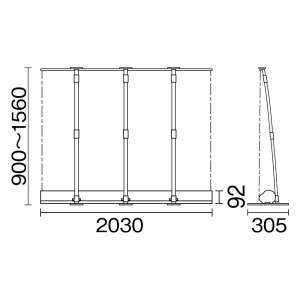 ロールアップバナー i-LooK200ロータイプ(アイルックH1500×W2000) _B