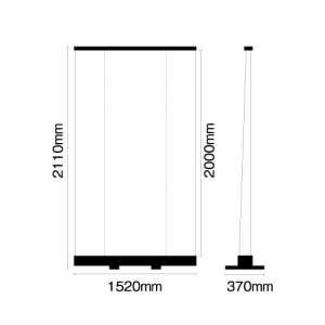 大型ロールアップバナー くるりんⅡ150(W1500)_B