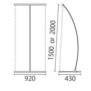 I-BannerⅡ920(アイバナーW890)シルバー_E
