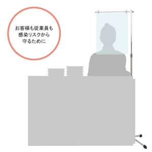 飛沫感染防止用クリップスタンド SGCシリーズ_C