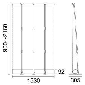 大型ロールアップバナー i-LooK150(アイルックW1500)_C
