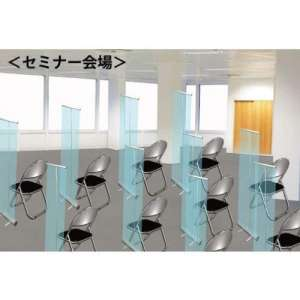 ロールアップ型 飛沫防止透明スクリーン くるりんシールド_G