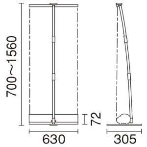 ロールアップバナー i-LooK60(アイルックW600)_C