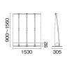 ロールアップバナー i-LooK150ロータイプ(アイルックH1500×W1500) _B